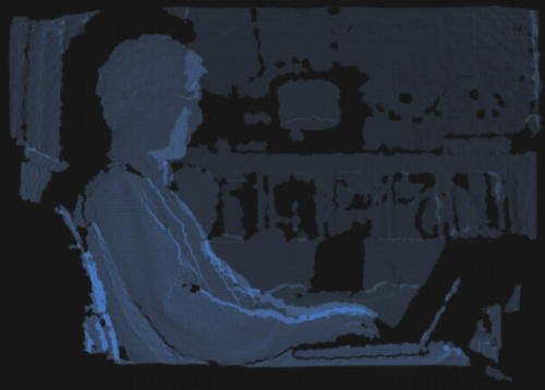 kinect depth map silhouette