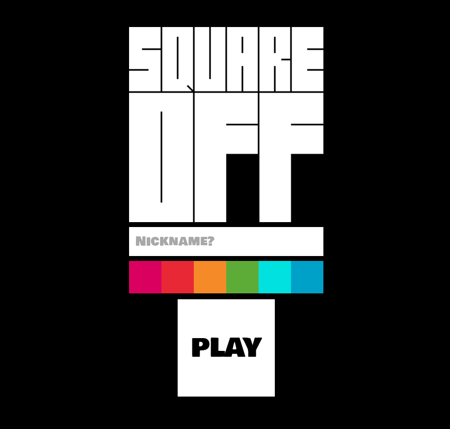 Square Off title screen